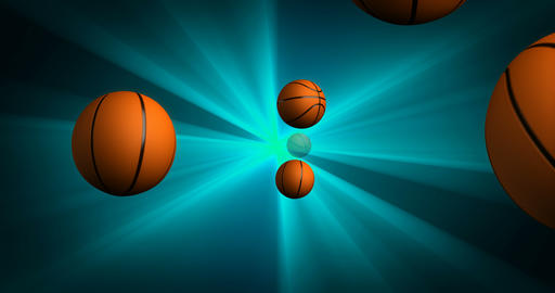 Spawn of Basketballs Background Animation