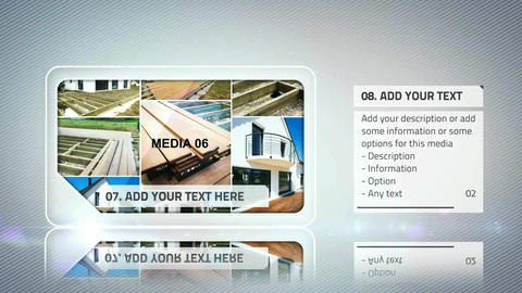 Sample White Slide Presentation After Effects Template