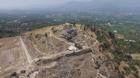 Tlos Ancient City Aerial View 04 Footage