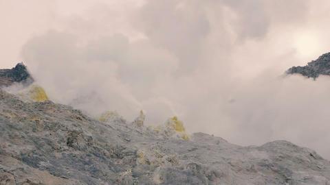 Mt.Iou,Iousan,in Akan National Park,Hokkaido,Japan Footage
