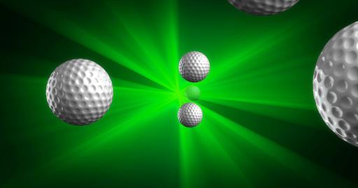 Spawn of Golf Balls Background Animation