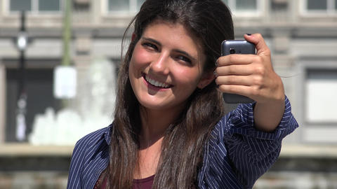 Pretty Urban Woman Selfie Live Action