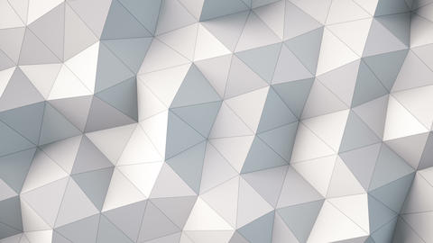 white polygonal geometric surface Animation