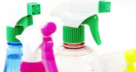 Close-up of spray bottle Live Action