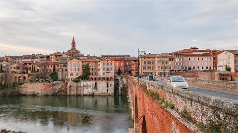 Albi, France, Video - The river of Albi Footage