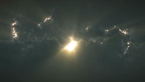 Light shining from between the clouds Animation