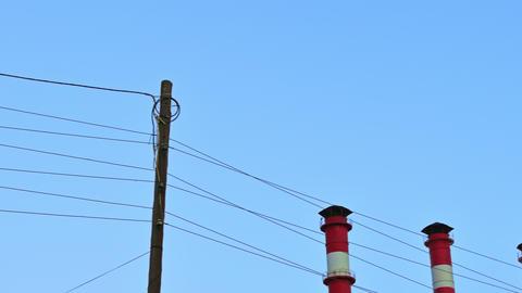 4K Chimney Smoke / Smoke Stack / Power Plant Footage