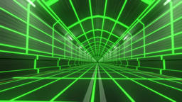 Loop tunnel 80s retro tron future wireframe arcade road tube subway neon glow 4k Live Action