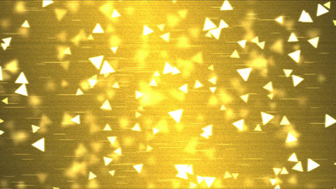 Colorful Triangle Motion Particle Background Animation - Loop Golden Animation