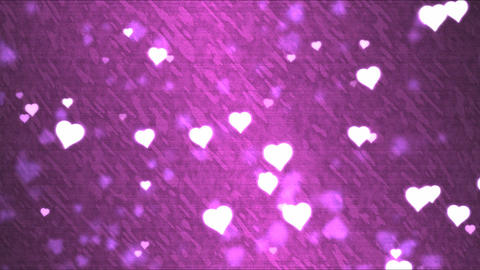 Heart Shape Background Animation - Loop Pink Animation