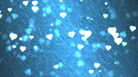 Heart Shape Background Animation - Loop Blue Animation