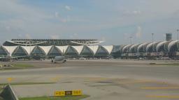 Airplanes in Suvarnabhumi airport Footage