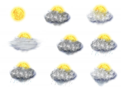 Weather Forecast Icons Set 1