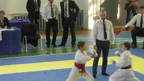 Young people compete in karate Live Action