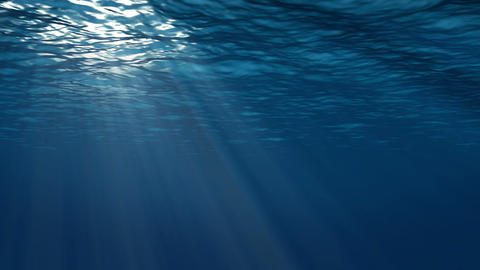 Realistic Underwater Scene With Sun Rays And Nice Glowing Light. Well As Abstrac stock footage