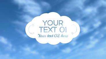 Cloud Title - After Effects Template After Effects Project
