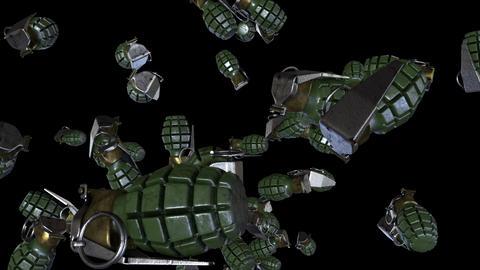 Falling Grenades Loop Image