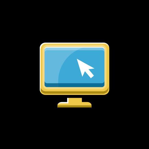 Computer Flat Icon Animation