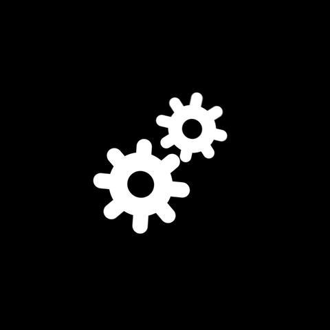 Gears Flat Icon GIF