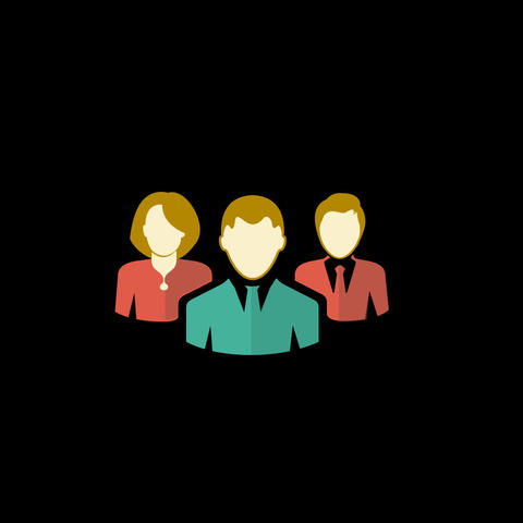 Group Of People Flat Icon 이미지