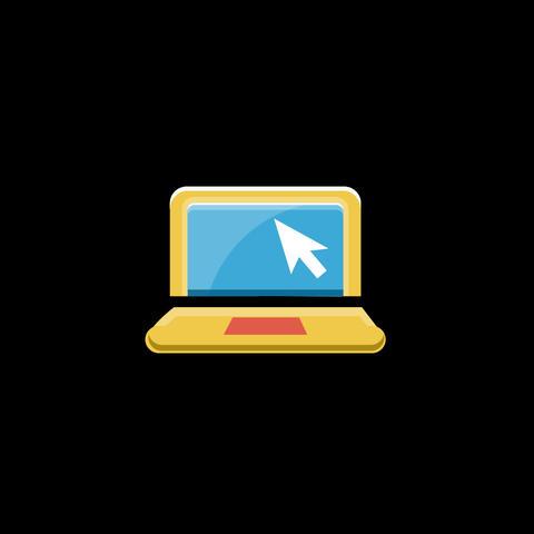 Laptop Flat Icon Animation