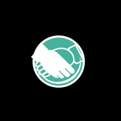 Handshake Flat Icon Animation