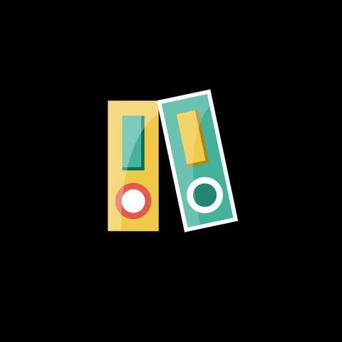 Folders Flat Icon Animation