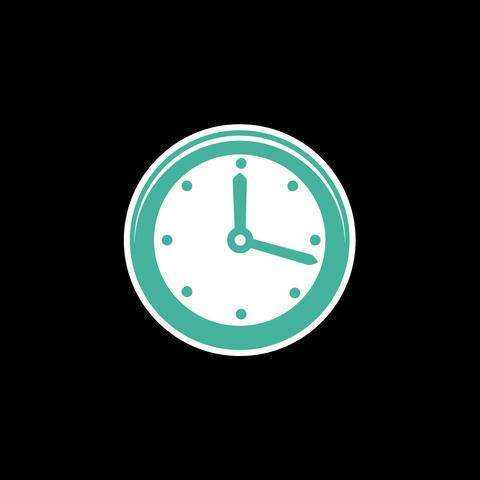 Clock Flat Icon Animation