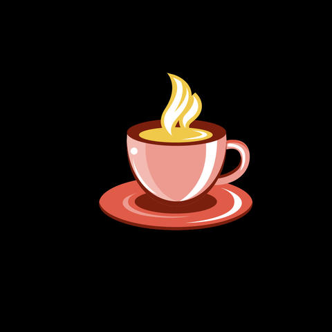 Coffee Cup Flat Icon Animation