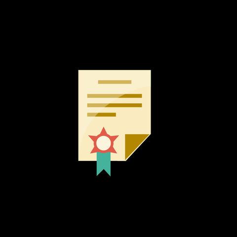 Document Flat Icon Animation