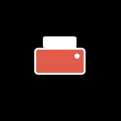 Printer Flat Icon Animation