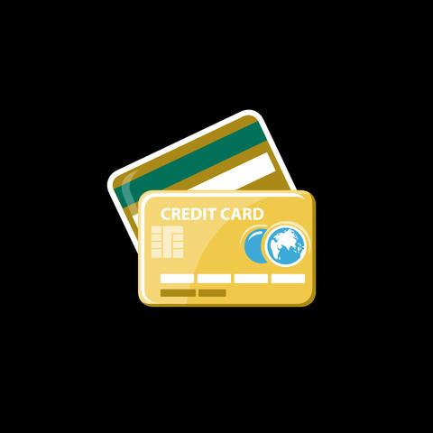 Credit Card Flat Icon 画像
