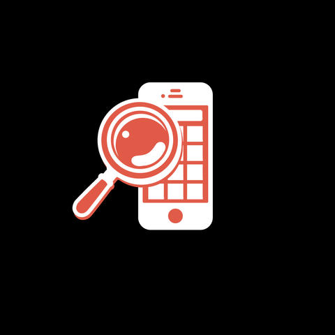 Phone Search Flat Icon Animation