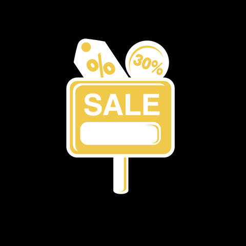 Sale Flat Icon Bild