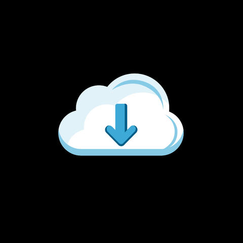 Cloud Download Flat Icon Animation