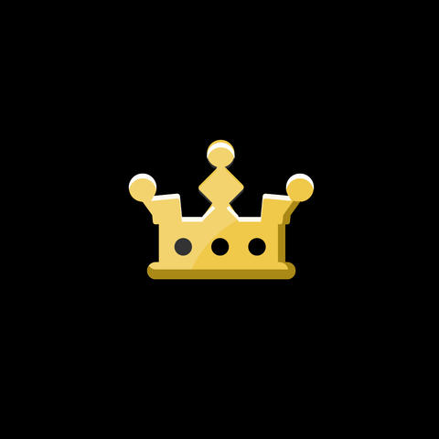 Crown Flat Icon Animation