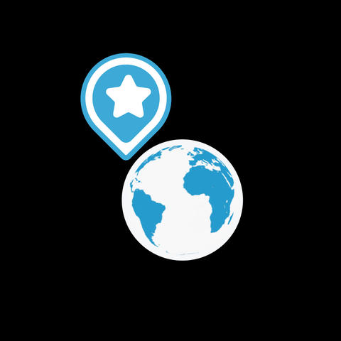 Geolocation Flat Icon Animation
