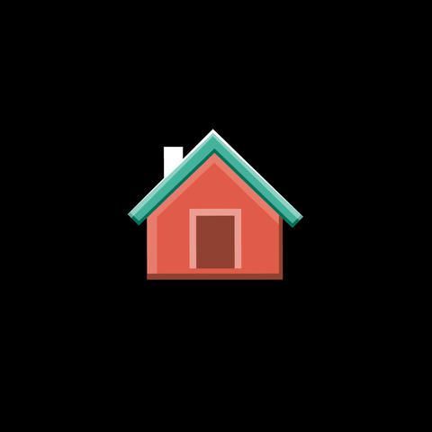 Home Flat Icon Animation