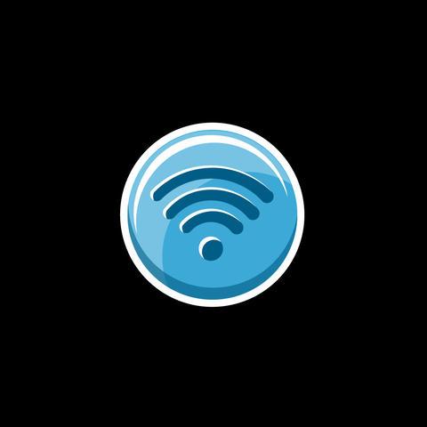 Wi-Fi Flat Icon GIF
