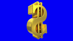 Dollar sign symbol rotate loop business finance tax gangster bling financial 4k Live Action
