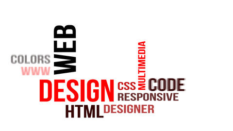 Kinetic typography - web design Animation