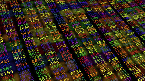 Data stream numbers computer rainbow colors Animation