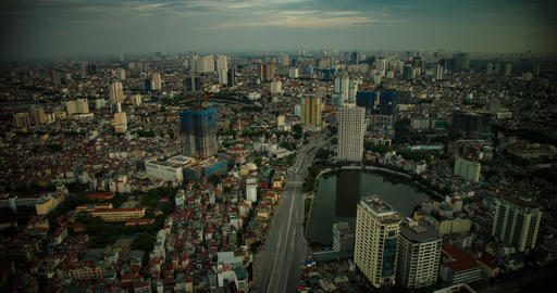 Time Lapse Looking Out Over Hanoi Vietnam Live Action