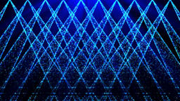 Blue large screen particle stage lighting Animación