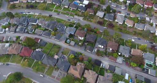 Aerial view of houses in the neighborhood Footage