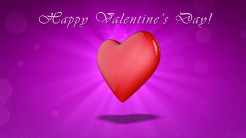 Happy Valentine's Day. 3D animation Animación