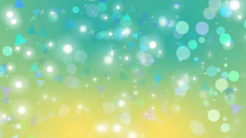 Green Geometric Bokeh Loop CG動画素材