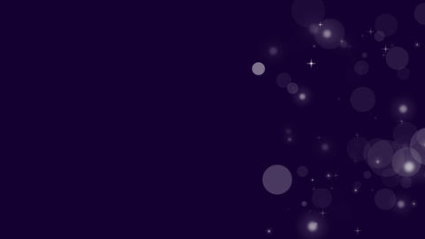 Particles and Stars on Violet Background Loop Animation