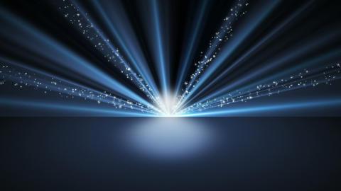 Blue Glitter Background Loop Animation