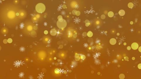 Gold Christmas Snowflakes Background Animation